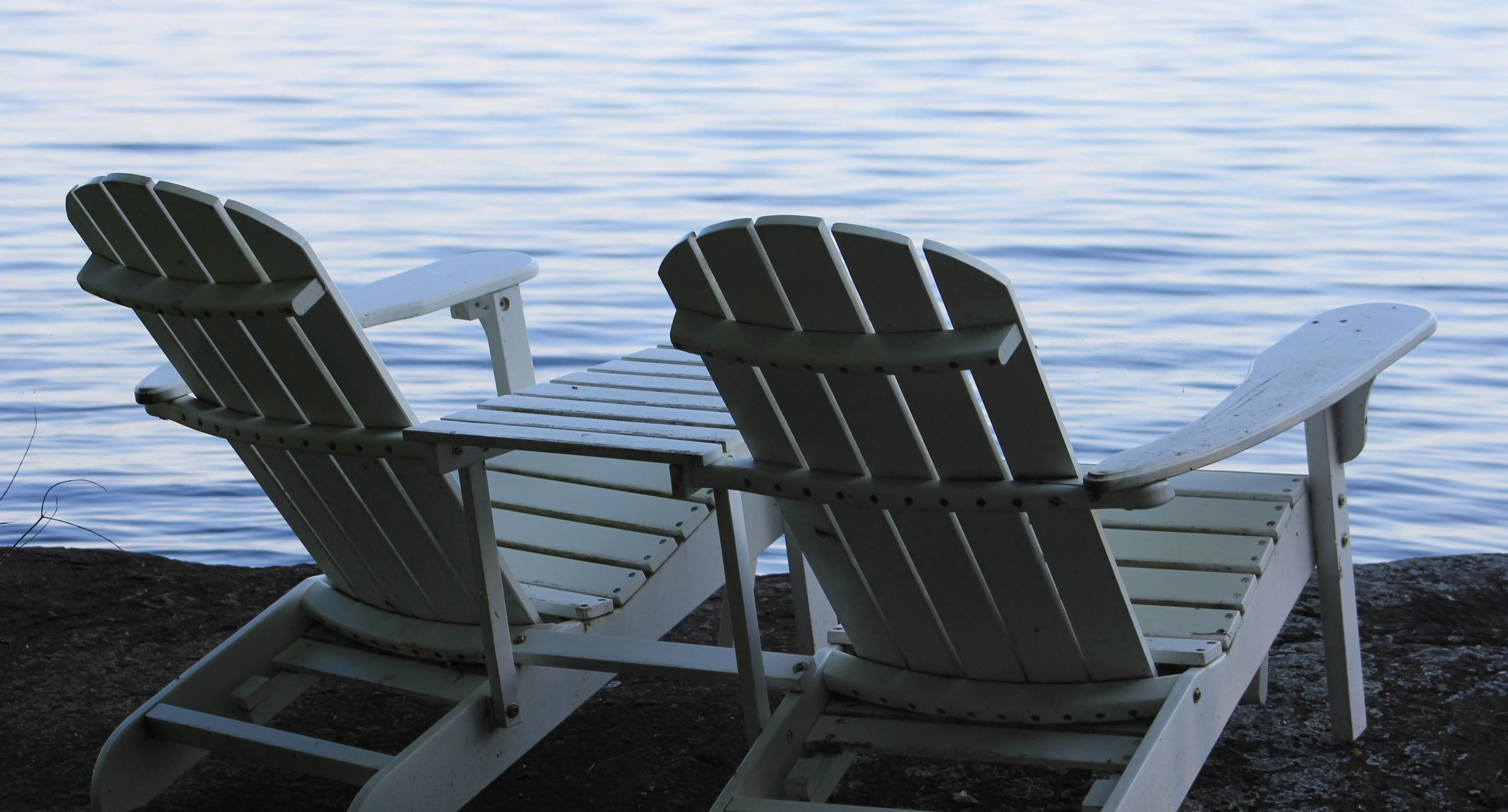 Muskoka Chairs On Charleston Lake